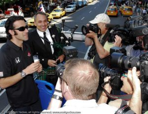 Indy 500 winner Dario Franchitti, David Cohen Bagpipes New York 2010