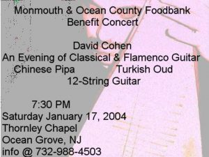 David Cohen Classical & Flamenco Guitar 1st MOC Food Bank Benefit Concert