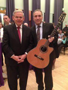 Senator Bob Menedez, David Cohen Guitar - NJPAC Newark, NJ 2016