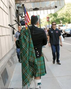 Indy 500 winner Dario Franchitti New York 2010 David Cohen Bagpipes