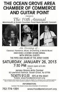 David Cohen Guitar, Jo Wymer, M'Zume Ocean Grove, New Jersey 2013