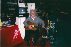 Einstein playing my Conde Hermanos flamenco guitar: Teachers Conference Atlantic City, New Jersey D