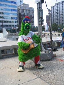 Philly Phanatic w/my Conde Hermanos Flamenco Guitar Dilworth Plaza, Philadelphia 2006 David Co