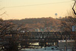 Arsenal Bridge: Downtown Davenport, Iowa